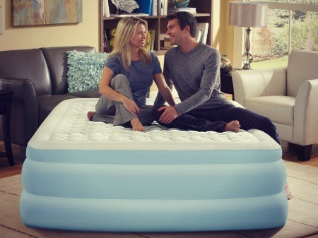 Inflatable bed - great option for guests.